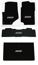 NEW! 2007-2009 Trailblazer Floor Mats Black Carpet Embroidered SS Logo Silver 4