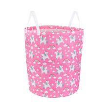 Rainbow Unicorn Toy Storage Pink Laundry Bag Basket Kids Bedroom Girls Gift