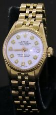 Rolex Datejust 6517 18K gold elegant white diamond dial automatic ladies watch