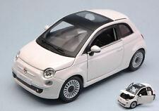 Fiat Nuova 500 2007 White 1:24 Model BBURAGO