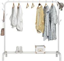 Clothes Rail Rack Hanging Garment Display Stand Shoe Storage Shelf 8 Hooks