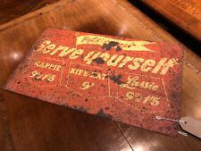 More details for old shop dog food metal sign.