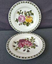 "Vintage ""The Bombay Company"" Floral 10 3/8"" Decorative Plates - Set of 2"