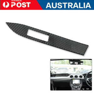 For Ford Mustang 2015-2019 Carbon Fiber Copilot Dashboard Panel Cover Trim