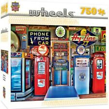 ANTIQUE GAS PUMPS JIGSAW PUZZLE, LINDA BERMAN, 24x18, MASTER PIECES, 750 PIECES