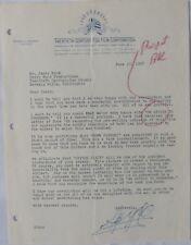 Spyros P. Skouras signed letter,Twentieth Century-Fox, June 13, 1957.