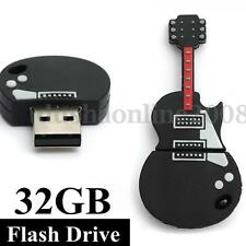 3D Guitare 32 G GO GB Clé USB 2.0 KEY Mémoire Flash Drive U Disk Win 7/8 Cadeau