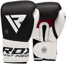 Rdx Leather Boxing Gloves Mma Fight Gel Batter-Resistant Kickboxing Muay Thai