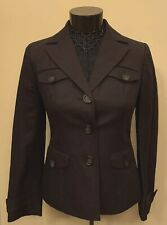 ANN TAYLOR LOFT Petites Blazer Size 0P Brown Three-Button 4 Front Pockets Jacket
