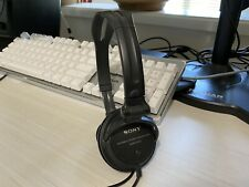 Sony MDR-V250 Black Dynamic Stereo Headphones Tested & Working