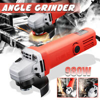 100mm 980W Electric Angle Grinder With Wrench Metal Wood Cutting Power Tool ❤