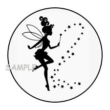"""30 Fairy Envelope Seals Labels Stickers 1.5"""" Round Birthday Party Favors"""