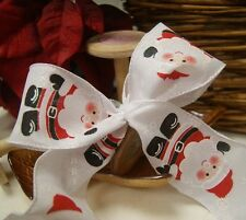 Christmas Luxury Wired Edge Father Christmas Ribbon * 63mm wide * ByThe Metre