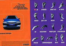 PUBLICITE ADVERTISING 015  1996  CITROEN SAXO  ( 2 pages)  ISOLATION PHONIQUE