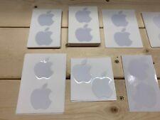 Apple NEW Genuine OEM Authentic White Apple Logo Decal Stickers - Medium Size