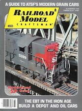 Railroad Model Craftsman  Mar.1990 ATSF Modern Grain Cars EBT Iron Age SP Geep