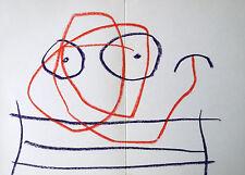 MIRO LITHOGRAPH w/COA. € $ invest gift magical Joan Miró 1962 litógrafo RARE ART