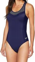 Speedo Womens Swimwear Starry Blue Size 6 Endurance Touchback Swimsuit $78- 023