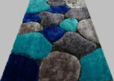 AREA RUGS SHAGGY AMERICAN COVER DESIGN  FLASH SHAGGY BLUE 5 BY 8