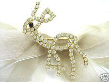 18KGP Bambi Deer Swarovski Element Austrian Crystal Rhinestone Brooch Pin