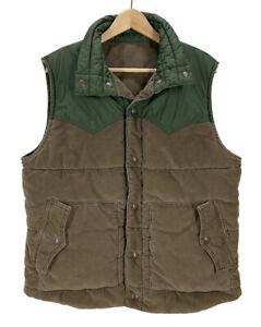 Levi's Two Tone Corduroy & Nylon Reversible Vest Large Excellent
