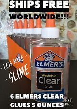 Elmer's School Glue, Clear, Washable, 5 Ounces
