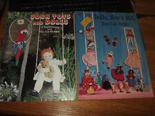 lot 2 Sock Toys and Dolls new old playful projects with full size patterns
