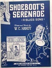 1943 BLACK SONGWRITER sheet music W. C. HANDY Shoeboot's Serenade