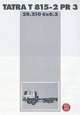 Prospekt Tatra T 815-2 PR 3 28.210 6x6.2 Technische Daten Datenblatt LKWs truck