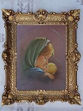 Gemälde Jesus Maria Ikonen Heiligenbild mit Rahmen 56x46 cm Religiöse Bilder 22