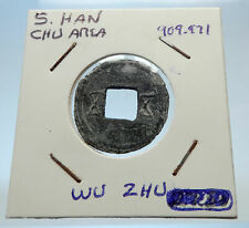 909AD CHINESE Southern HAN Dynasty Genuine Antique LEAD Cash Coin CHINA i71680