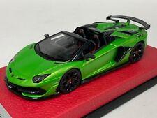 1/43 Looksmart Lamborghini Aventador SVJ Roadster Acheco Green LS501C Leather