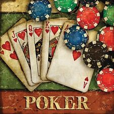 Poker by Mollie B. Gambling Gaming Card Game Print Poster