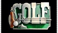 GOLF GOLFER GAME SPORTS CLUBS BAG BALL GREEN BELT BUCKLE BOUCLE DE CEINTURES