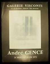 Plakat Ausstellung andré Ganja Galerie Visconti Paris IV e 24 mai 17 Juni 1972