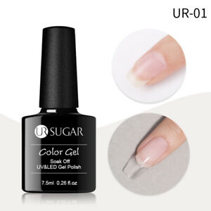 7.5ml Clear  UV Builder Nail Gel Polish Tips Quick Extension Gel Form Tools