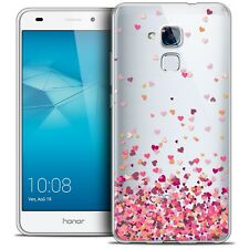 Coque Crystal Gel Pour Honor 5C Extra Fine Souple Sweetie Heart Flakes