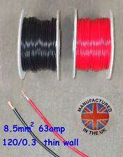 Thin wall cable 8.5mm², (8AWG) 63amp, Auto, Marine, Low Voltage,     TW8.5
