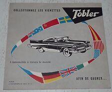 ALBUM VIDE CHOCOLAT TOBLER 1952 L'AUTOMOBILE SERIE N°2 / EMPTY