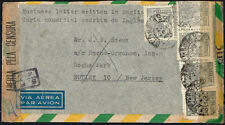 30 00004000 8 Brazil To Us Censored Air Mail Cover 1944 Two Censors Sao Paulo - Nutley, Nj