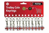St. George x English Shopping Trolley Token £1 Coin Keyring clasp Locker Pound