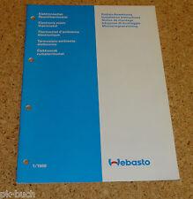 Einbauanweisung Webasto Elektronischer Raumthermostat Stand 01/1988