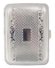 Engraved Silver Design METAL CIGARETTE CASE ~~~~~ Holds 16 Cigarettes, cigerette