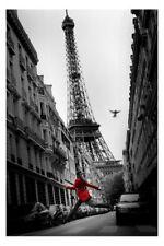 La Veste Rouge Poster Tour Eiffel Paris NEUF