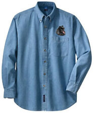 Miniature German Spitz embroidered denim shirt Xs-Xl