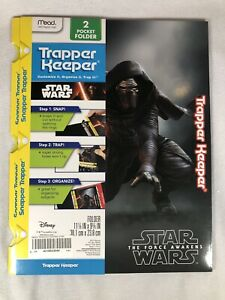 NEW Mead Trapper Keeper Star Wars The Force Awakens Pocket Folder