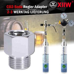 T21-4 zu W21.8-14 Adapter Konverter zum CO2 Zylinder für Soda SodaStream DIN477