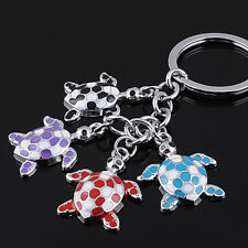 Charm Sea  Turtle Cute Colorful Car Key Ring Keyfob Metal Keychain