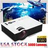 5000 Lumen HD 1080P LED LCD Projector MULTIMEDIA Home Theater Cinema HDMI USB
