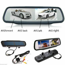 4.3'' Dual Split Screen Car Side Rear View Mirror Monitor For VCD/DVD/TV/GPS